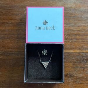 Anna Beck Gili Divided sterling silver necklace